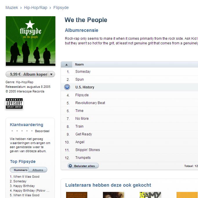 muziek downloaden (iTunes)