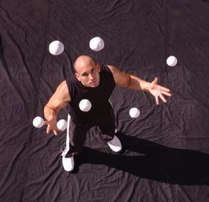 jongleren (3 balletjes)