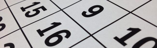 een datum schrijven